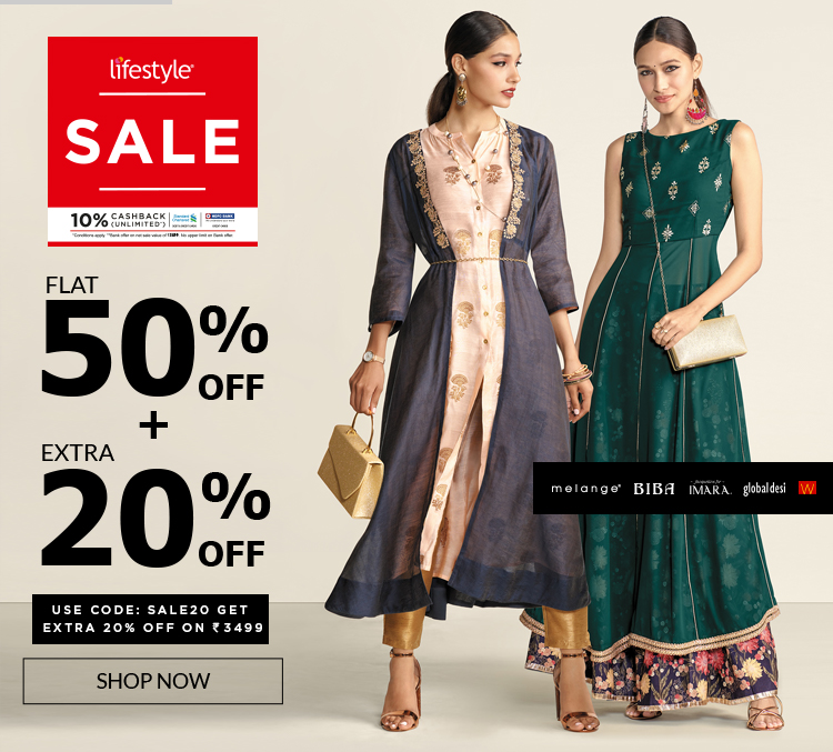2d8f9aa4e7d3 Online Shopping - Clothing, Shoes, Beauty & Fashion Accessories Sites in  India - Lifestylestores.com